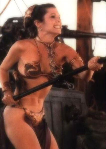 princess leia slave cosplay. Carrie Fisher as Princess Leia